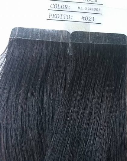 Cabelo com Adesivo - Castanho Escuro-0
